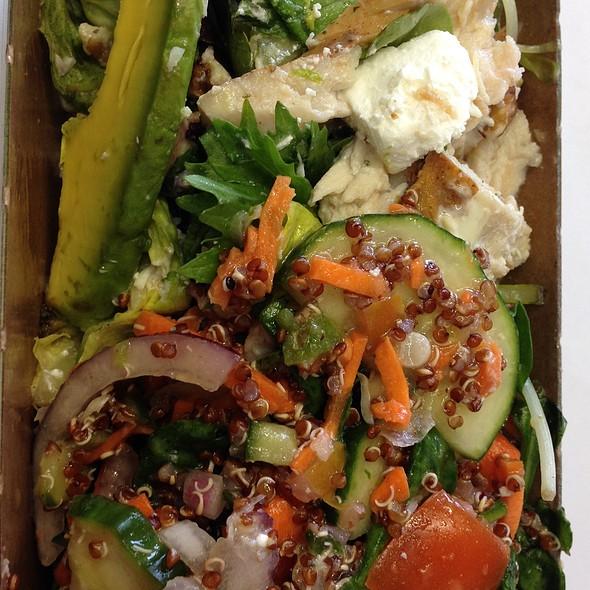 Quinoa Greek Salad & Avocado Salad