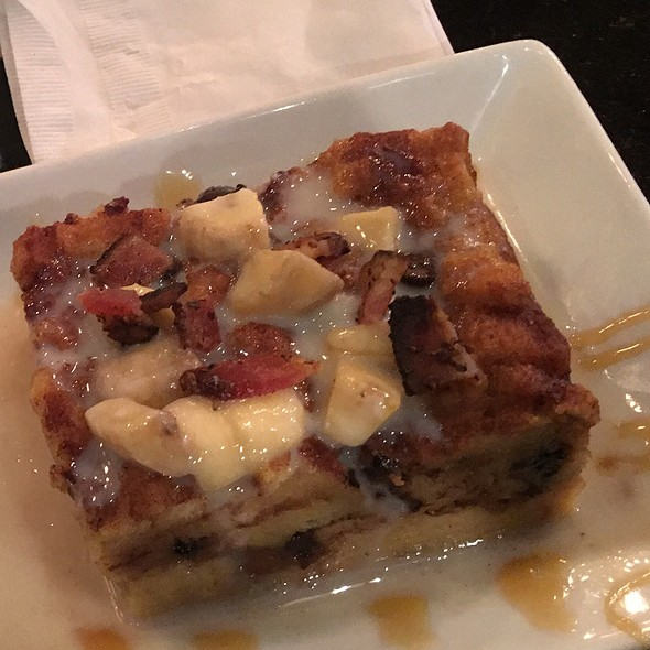 Elvis-Style Bread Pudding With Bacon @ Wicked Cow Burgers And Brews