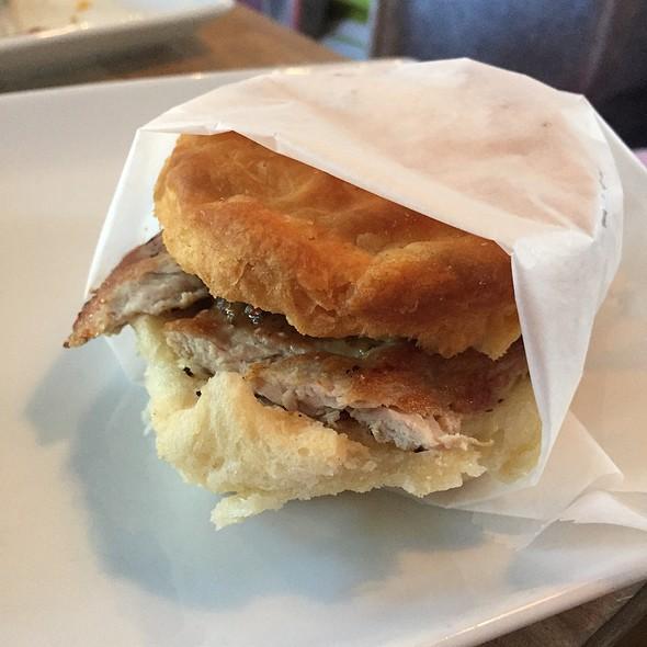 Fried Pork Tenderloin Biscuit