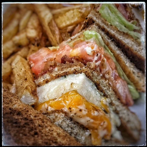 Traditional Clubhouse Sandwich @ Fifty's Diner