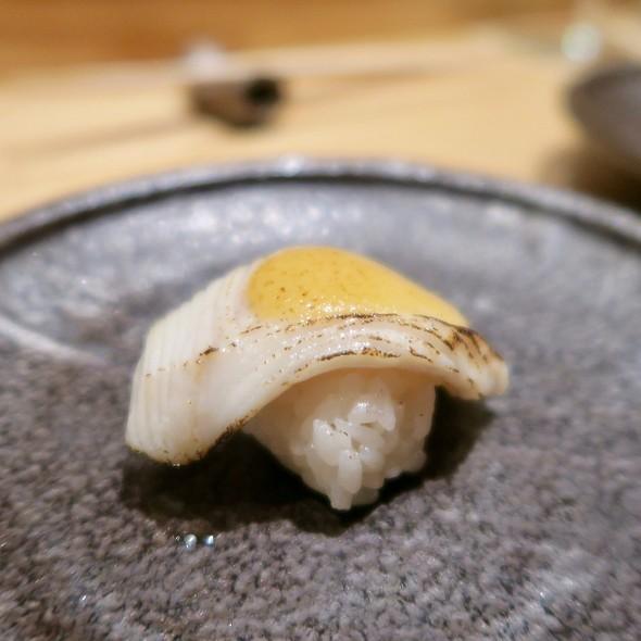 Torched Black Cod Nigiri With Mustard Miso
