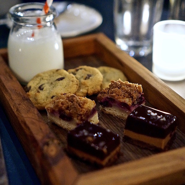 Cookies and milk plate