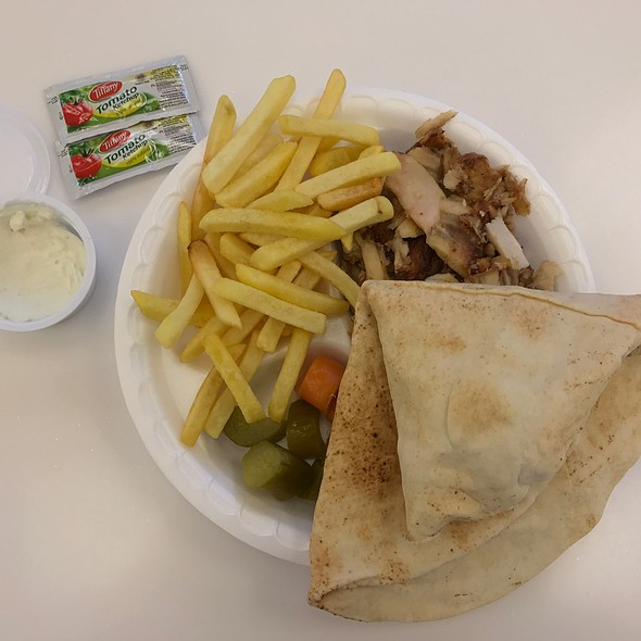 Chicken Shawarma (Exquisite Flame Grilled Chicken Shawarma Platter With Golden Fries)