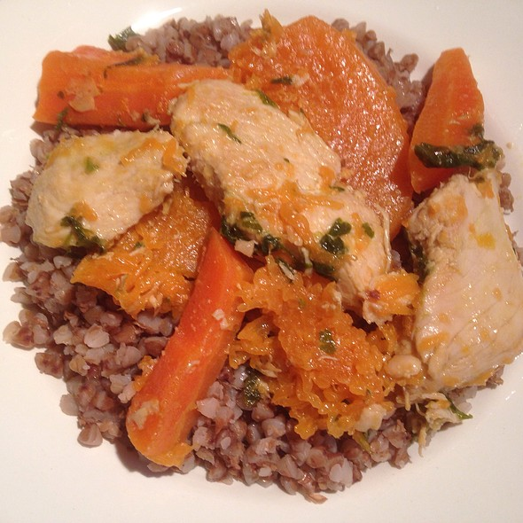 Stewed Chicken Fillet with Veg and Buckwheat