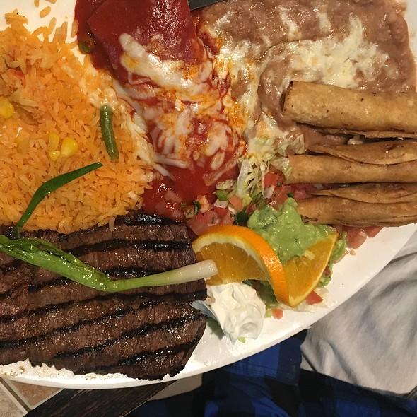 #4 Combo: Carne Asada, Cheese Enchilada, And Taquitos @ Fonda Don Chon