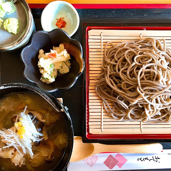 Japanese Soba Noodles And Chicken Broth