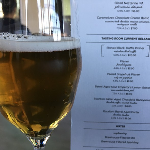 Shaved Black Truffle Pilsner @ Moody Tongue Brewing Company