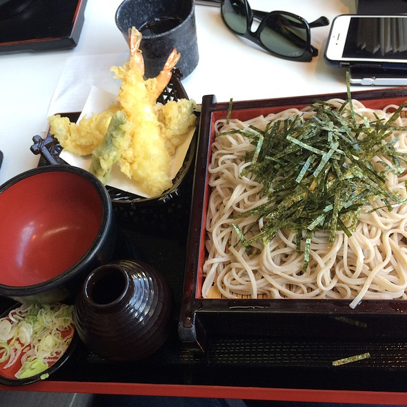 Cold Soba Noodles And Tempura