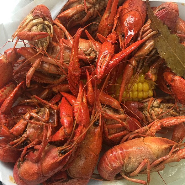 Boiled Crawfish At The Gazebo Cafe
