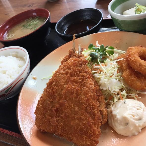 アジフライ定食 @ 街かど屋 熱田一番店