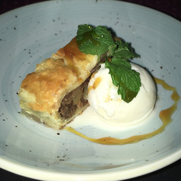 Apple Strudel And Vanilla Ice Cream