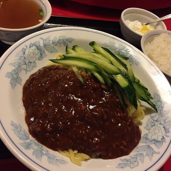 ジャージャン麺 + 半ライス @ 福州屋台