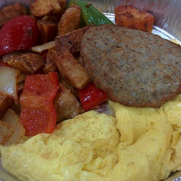 Breakfast Platter with Sausage @ Open Kitchen