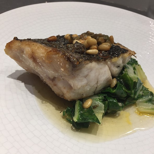 Chargrilled Turbot With Black Butter, Spinach, Cappers And Pine Nuts
