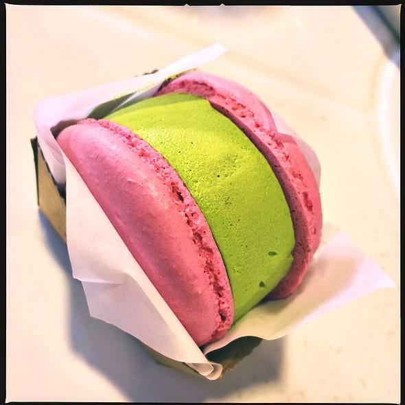 Green Tea Macaron Ice Cream Sandwich