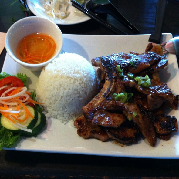 Grilled Pork Chops With Steamed Rice @ Pho Real