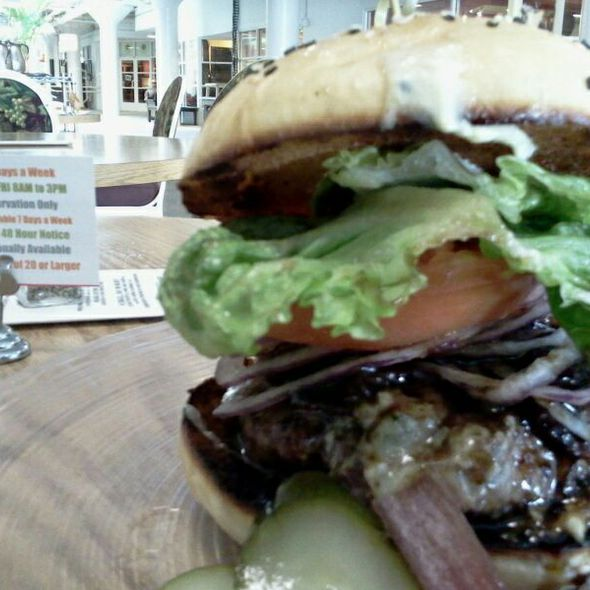 Bacon and Gorgonzola Burger @ Eat Catering & Cafe