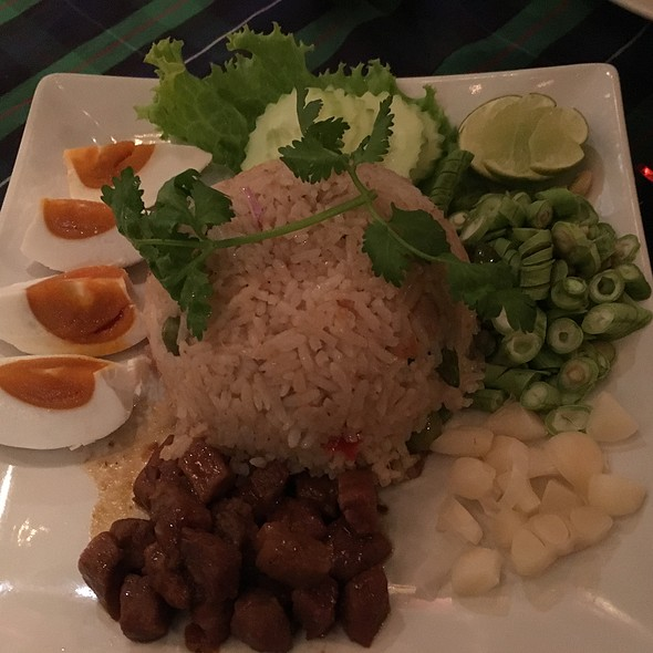 Rice With Shrimp Paste, Sweet Pork And Salty Egg