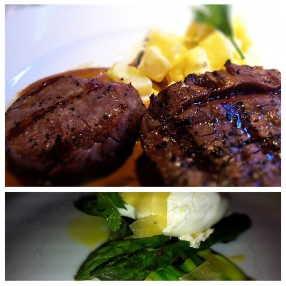 Steak And Asparagus @ Julie's Wine Bar