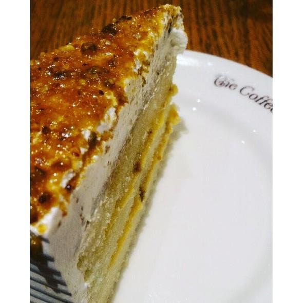 Lemon Pistachio Praline Cake