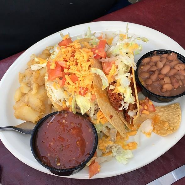 Taco Plate At El Patio De Albuquerque