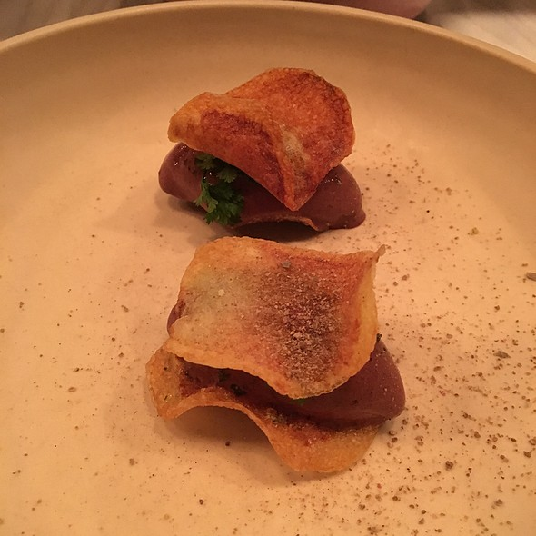 Potato Chips With Chocolate Gelato