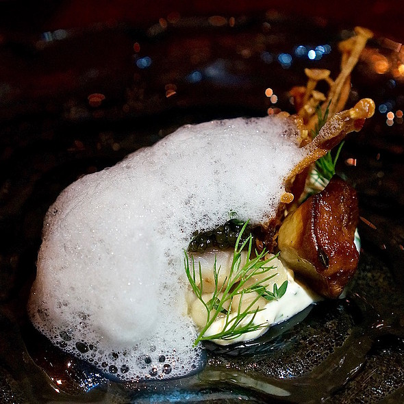Striped bass, smoked mascarpone, beans @ Next Restaurant
