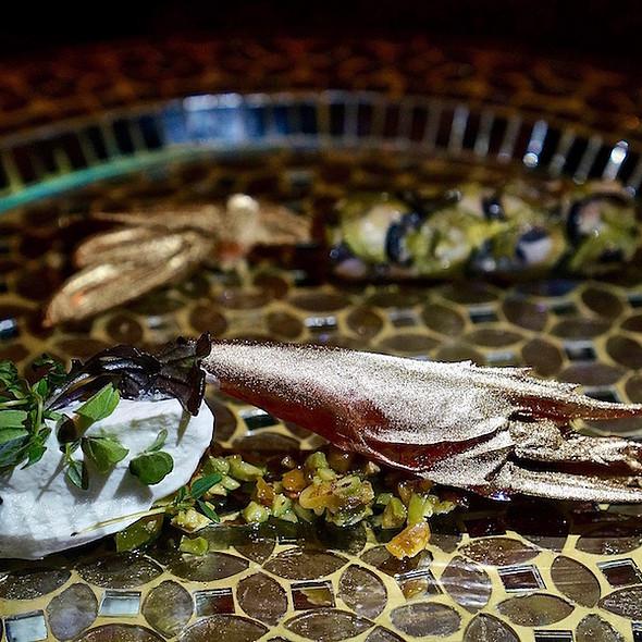 Langoustine, olives, walnut @ Next Restaurant