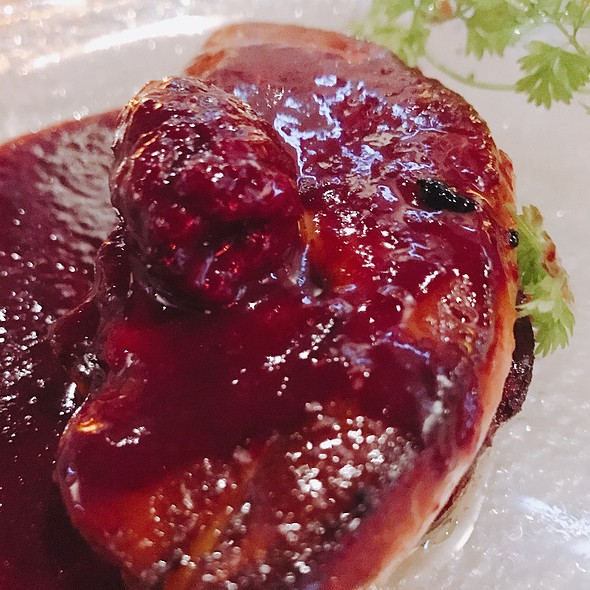 Perfectly Seared Foie Gras Warm Blackberry Sauce