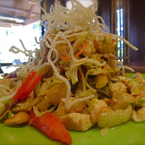 Asian chicken salad @ Tangaroa Terrace