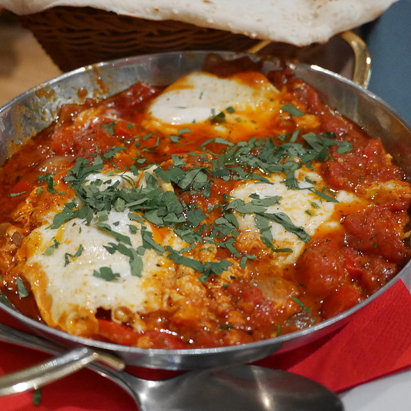Eggs with Tomatoes, Bell Pepper, Onions and Herbs @ Die Kurve