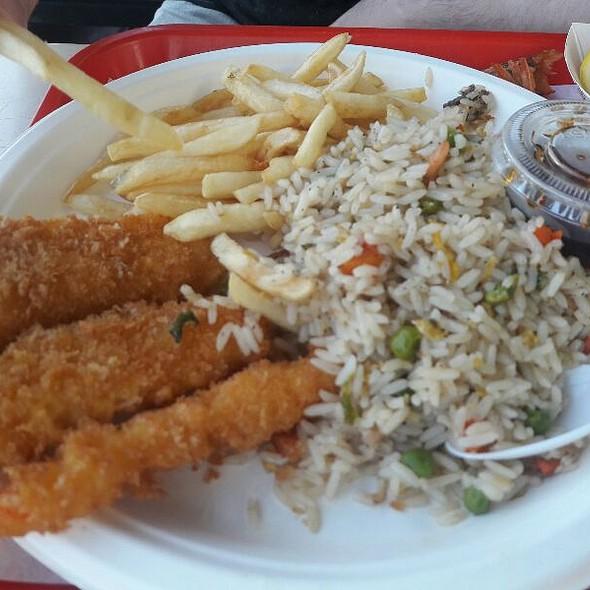 Fish And Shrimp Combo Plate @ Alaska Seafood & Sushi