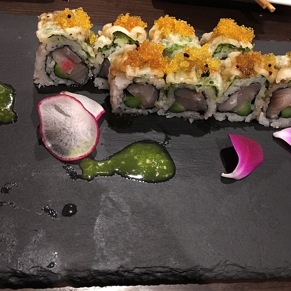 Shiso Yellowtail Roll @ Mikado Sushi