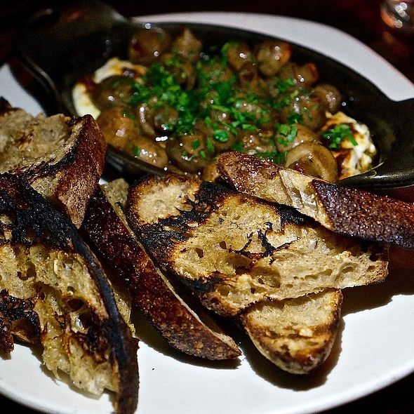 Baked house ricotta, button mushroom confit, balsamic brown butter, grilled bread