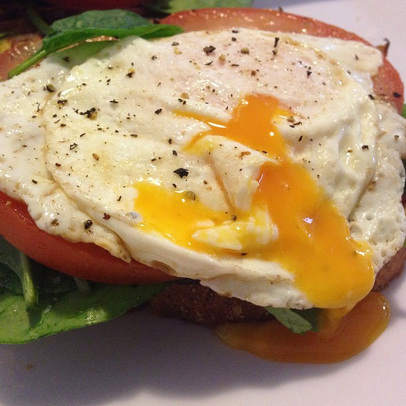 Bacon, Egg, Tomato, Spinach On Toast