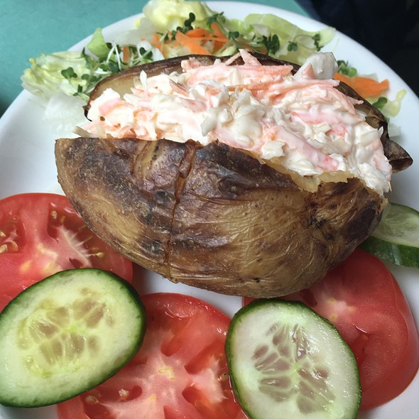 Jacket Potato with Coleslaw  @ The Muffin Man Tea Shop