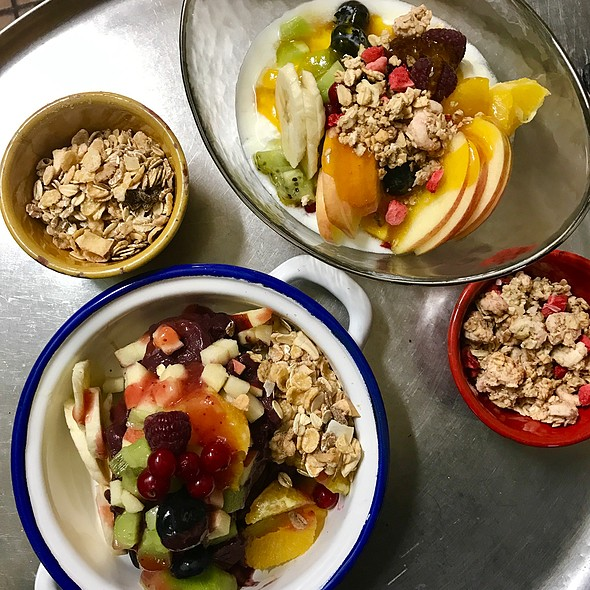 Yogurt And Acai With Fruits And Cereals