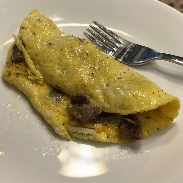 Steak, Green Chili, And Cheese Omelette