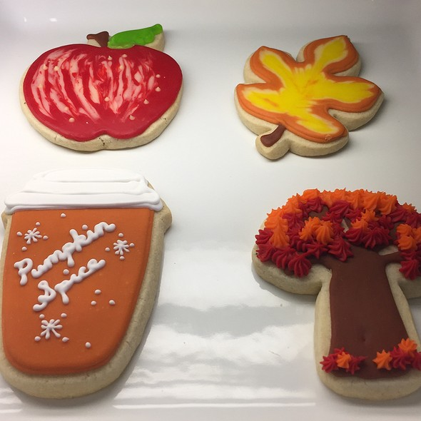 Assorted Fall Themed Sugar Cookies