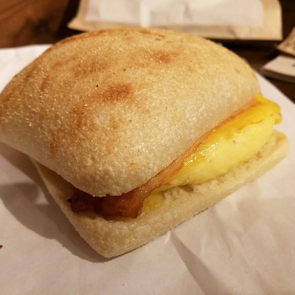 Bacon, Egg, & Cheddar Sandwich
