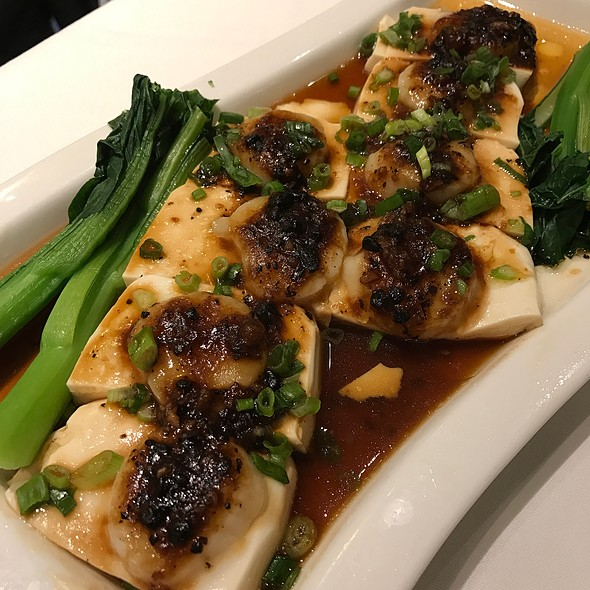 Steamed Tofu With Scallops In Black Bean Sauce