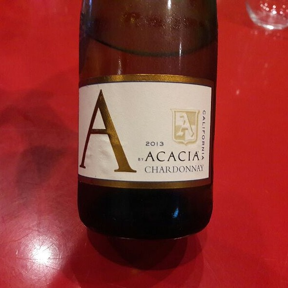 Acacia Chardonnay 2013 @ Z Pizza Laguna Beach