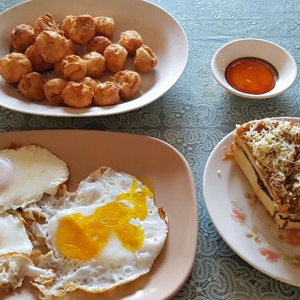 Egg, Squid Balls & Yema Cake