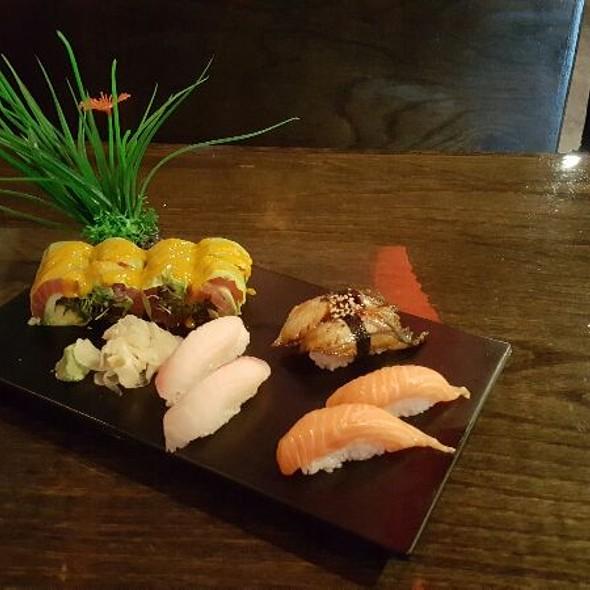 Salmon, Red Snapper, Eel, & Haru Roll