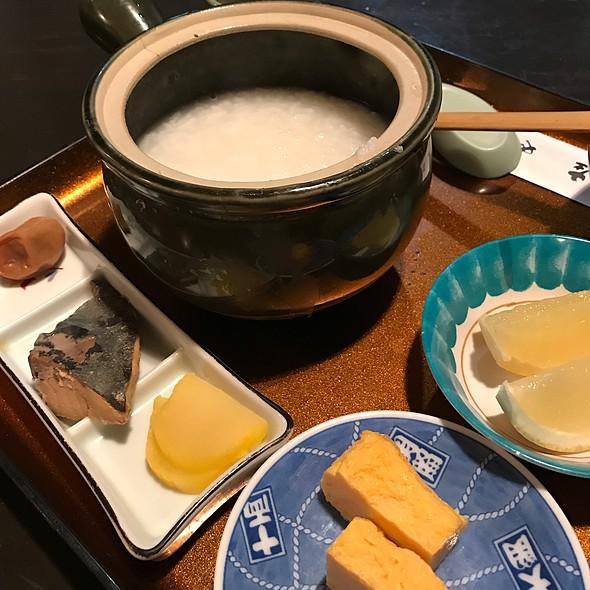 粥朝食 @ 飯能第一ホテル