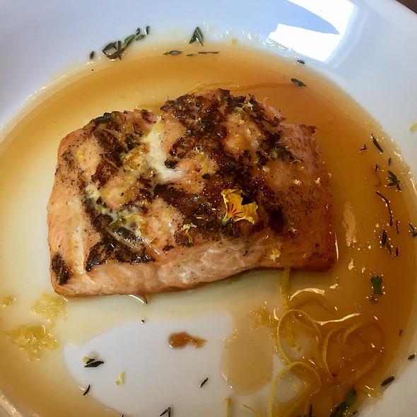 Grilled Salmon With Roobios Tea, Cardamom, And Anise Glaze