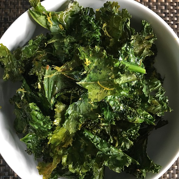 Kale Chips With Lemon Zest