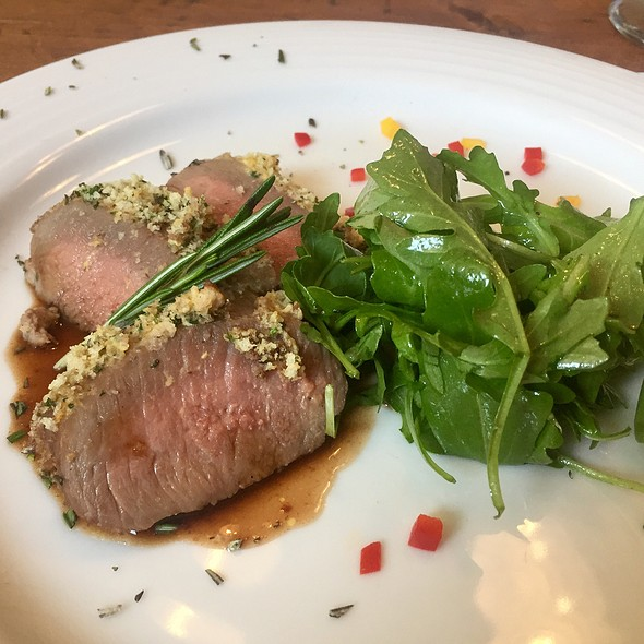 Herb Coated Lamb Loon With Port Wine Sauce