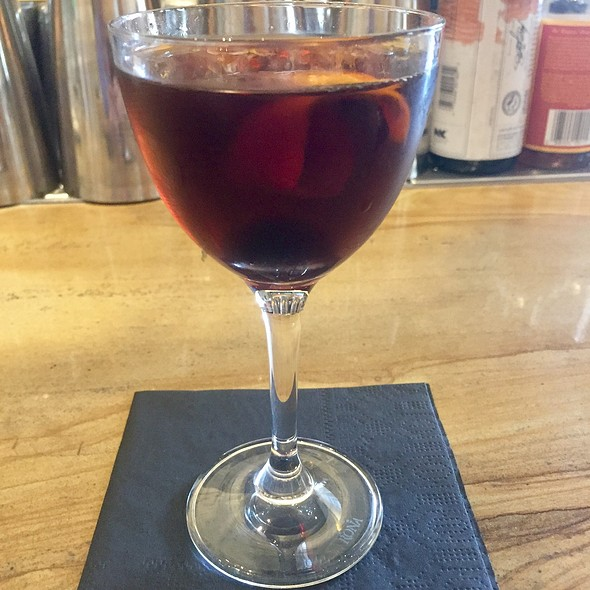 Little Empire Cocktail With Punt E Mes, Carpano Antica, Rye, And Orange Bitters