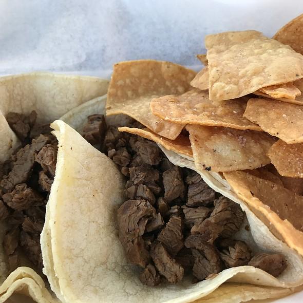 Carne Asada Tacos @ Bumblebee Man's Taco Truck